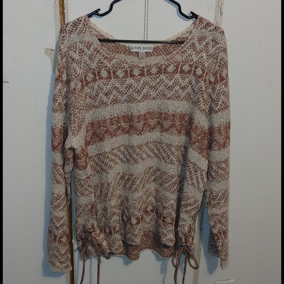 Side Lace Up Knox Rose Sweater